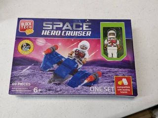 Block Tech Space Hero Cruiser Age 6  Space Craft With Will Astronaut Figure
