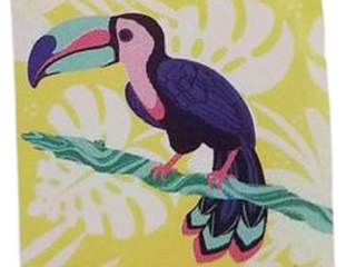 Tucan Yellow Beach Towel   28 X 58 Inches   100  Cotton