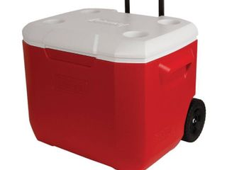 Coleman 60 Quart C Tec Performance Wheeled Cooler   Red