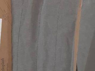 Sheer Grey Curtain Panel