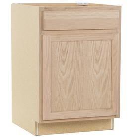 Unfinished Oak Door   Drawer Base Cabinet