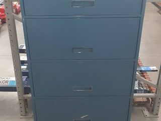 Five Drawer Filing Cabinet in Blue