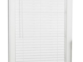 Two Cordless Faux Wood Blinds