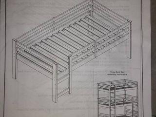 Walker Edison Triple Bunk Bed Attachment