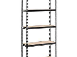 Storage Rack w  Five Black Shelves