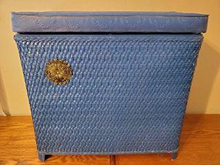Blue Vintage laced laundry Hamper