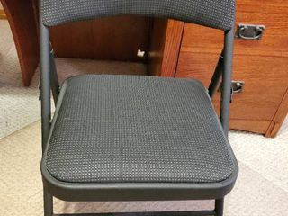 Black Folding Metal Framed Chair