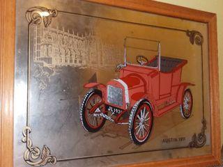 1911 Austin Automobile Mirror