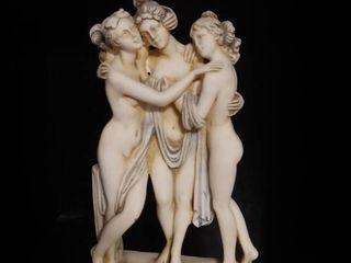 Porecelain Greek Depicted Statue of Diogenes