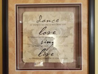 Wall Decor Dance love Sing and live