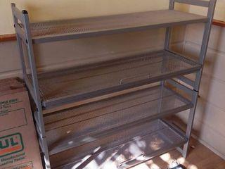 Metal Grey 4 Tier Shelf