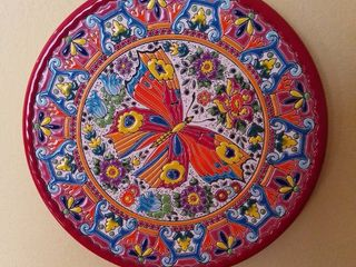 Painted Mosaic Butterfly Wall Decor