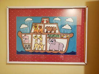 Signed Jane Kistler Painting of Noah s Ark
