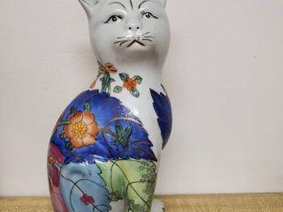 Hand Painted Feline Statue