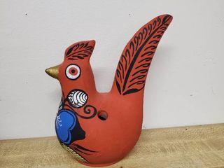 Hand Painted Red Bird Figurine