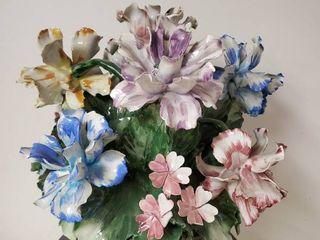 Noritake China Bouquet  Some Pedal Damage See Photos