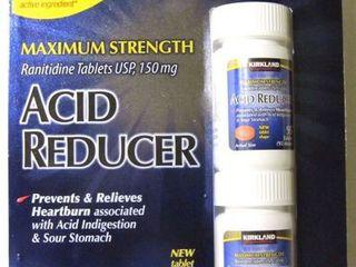 Kirkland Signature Maximum Strength Acid Reducer Ranitidine Tablets USP 150MG 95 Tablets 2 Count 190 Total tablets