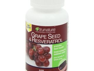 Trunature Grape Seed  amp  Resveratrol Supplement Tablets  150 Ct