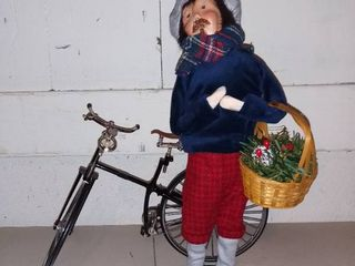 Everyday is Holiday Byers Choice Caroler with Bicycle