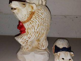 David Fryman Collection Polar Bear Mama Bear and Cubs with Cliff Hanger Bear lot