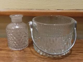 Thick Glass Ice Bucket and Incent Holder
