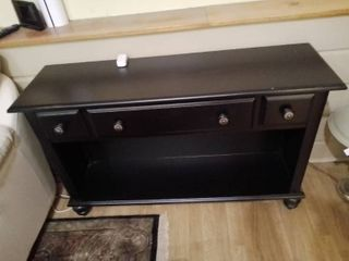 Black Sofa Table with Drawer