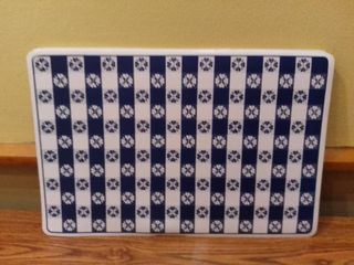 lot of 7 Blue and White Checkered Placemats