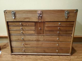 Wooden Art Cabinet with Key