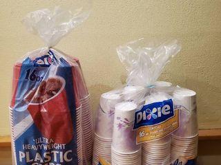 2 Sets of Plastic Cups