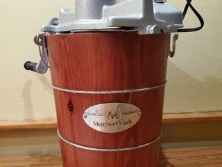 Makers Mark Wooden Crate Ice Cream Churner