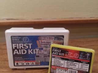 lot of 2 First Aid Kits American Medical Association Auto First Aid Kit