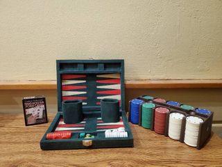 Poker and Backgammon Sets