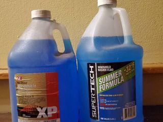 2 Bottles of Blue 1 Gallon Windshield Washer