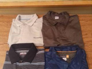 lot of 4 Golf Shirts Size Medium and large Brands Nike Columbia Kirkland Quicksilver