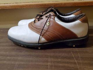 FJ White leather Mens Golfing Shoes 9M