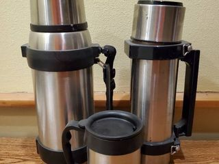 lot of 3 Stainless Steel To  Go Thermos