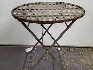 Wrought Iron Collapsible Patio Table