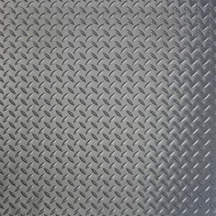 G Floor 75 Mil Diamond Tread 7 6  x 17  Slate Grey Garage Flooring Cover Protector