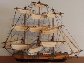 Wooden Ship Handmade Model of the Clipper 1872 Made in Spain