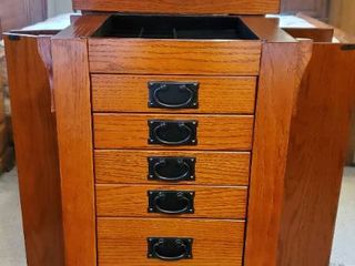 POWEll Jewelry Box with 8 Drawers with Brass Handles