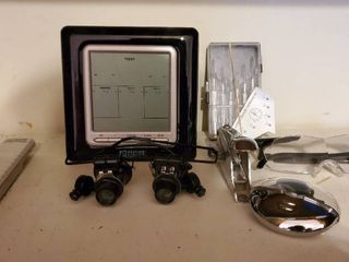 lot of Office Misc  Bifocals  Battery Operated Weather Direct  Webcam  and More