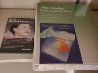 lot of 2  Photo Reading Course  and MICROSOFT Digital Image
