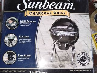 Unassembled Sunbeam Charcoal Kettle Bbq Barbeque Grill Green Model Npc1406