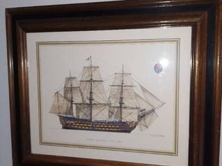 Framed Print of the H M S  Victory 1765 1869 Ship