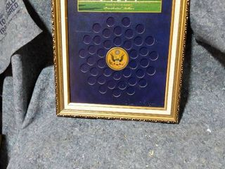 collection frame for presidential dollars