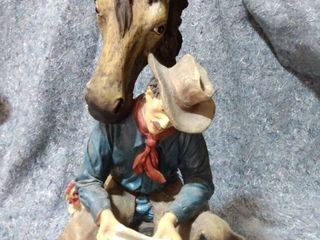 Cowboy and Horse Statue