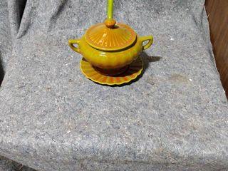 vintage soup pot with ladle