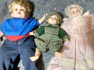 3 Porcelain Baby Dolls