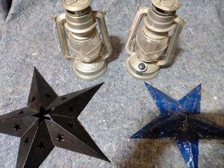 2 Brooklyn Oil lanterns and 2 Stars