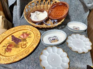lot of Decorative Platters and Baskets
